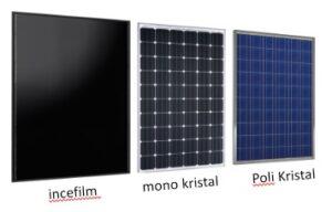 en çok kullanılan güneş panelleri