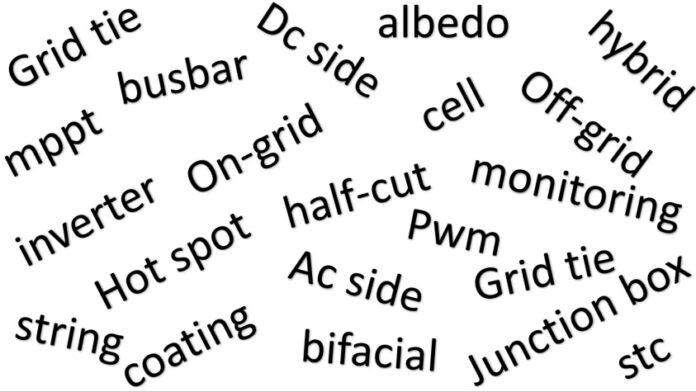 güneş enerjisi terimler sözlüğü